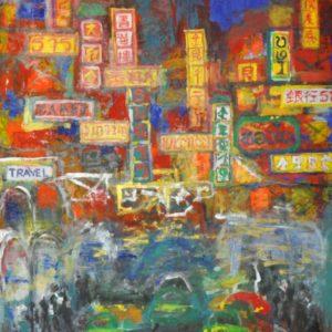 """Bangkok Chinatown <br><a href=""""https://arte-kunstmesse.de/petra-baeuerle/"""">Petra Bäuerle</a>"""