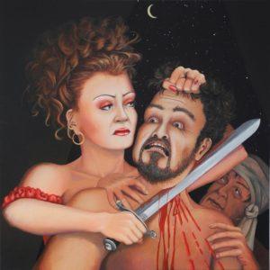 "Judith und Holofernes II <br><a href=""https://arte-kunstmesse.de/lothar-bergmann/"">Lothar Bergmann</a>"