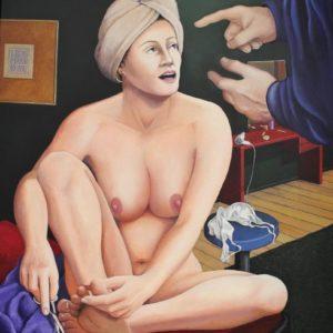 """Verkündigung <br><a href=""""https://arte-kunstmesse.de/lothar-bergmann/"""">Lothar Bergmann</a>"""