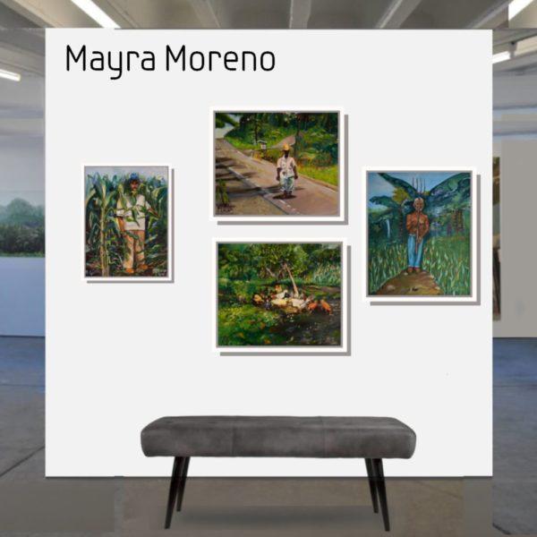 Maske_Moreno_Mayra-Papa_40x30_mit_Rahmen