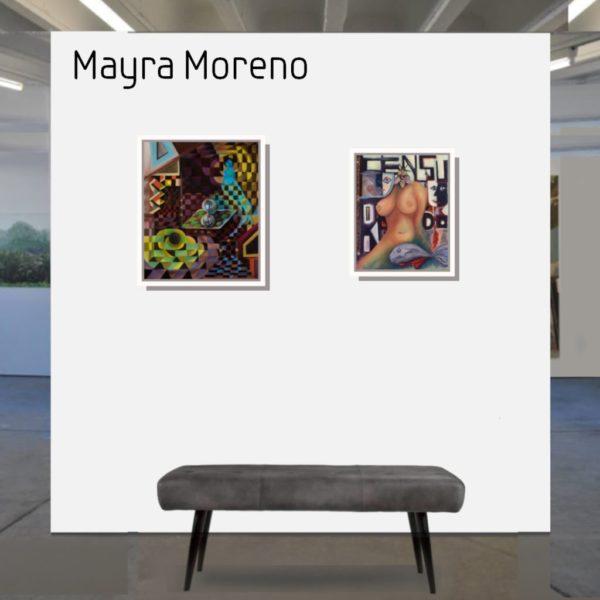 Maske_Moreno_Mayra_Censura_50x40_mit_Rahmen