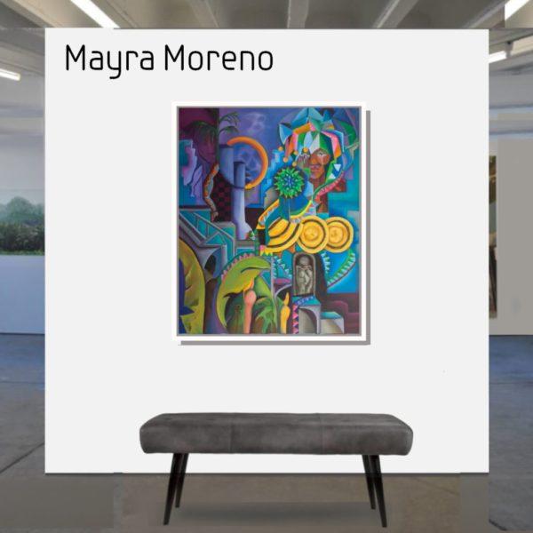 Maske_Moreno_Mayra_Das_Streben_100x80_mit_Rahmen