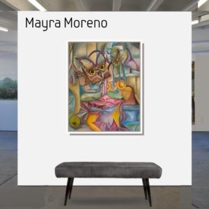 """Dissection of the owl <br><a href=""""https://arte-kunstmesse.de/mayra-moreno/"""">Mayra Moreno</a>"""
