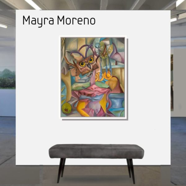 Maske_Moreno_Mayra_Diseccion_of_the_owl_100x80-mit_Rahmen