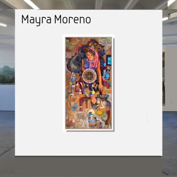 Maske_Moreno_Mayra_Dystopia 2020_140x70_mit_Rahmen