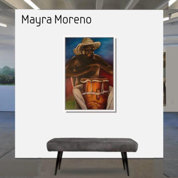 Maske_Moreno_Mayra_El_Tamborero_90x60_mit_Rahmen