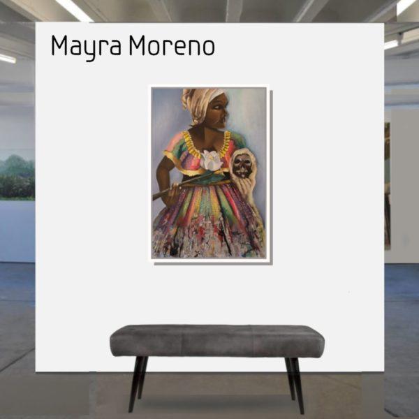 Maske_Moreno_Mayra_Flor_y_Calavera_90x60_mit_Rahmen