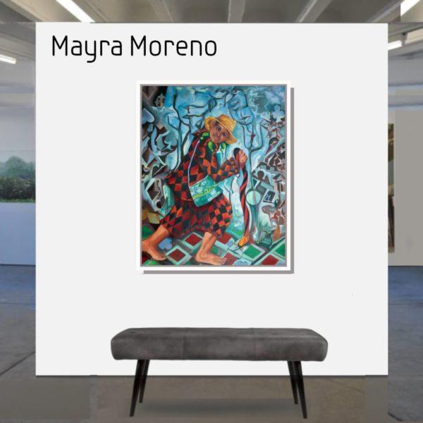 Maske_Moreno_Mayra_Ich_bin_Juan_100x80_mit_Rahmen