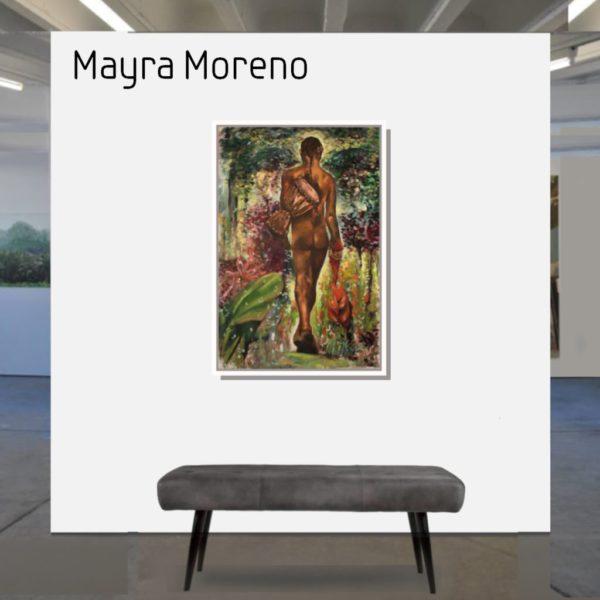 Maske_Moreno_Mayra_La_Cumbia_se_va_2_90x60_mit_Rahmen