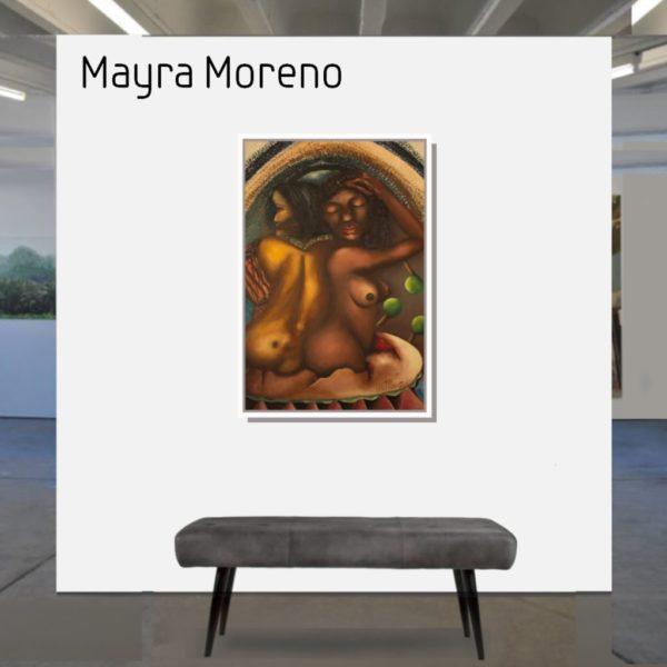 Maske_Moreno_Mayra_Las_Yovankas_90x60_mit_Rahmen