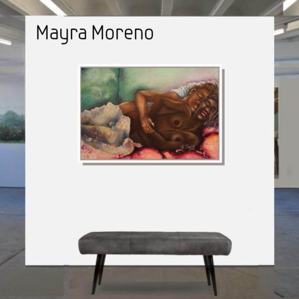 Maske_Moreno_Mayra_Lovers_60x90_mit_Rahmen