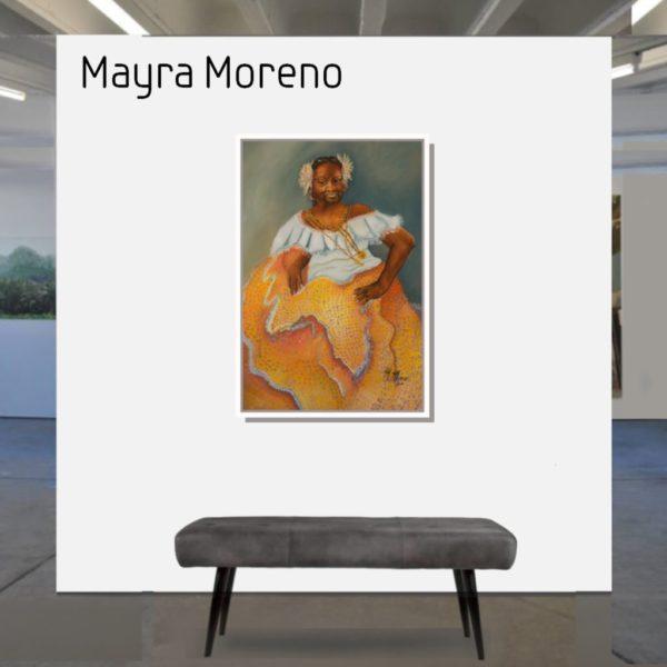 Maske_Moreno_Mayra_Madre_Africa_90x60_mit_Rahmen