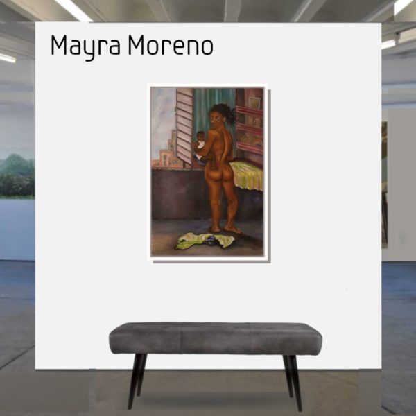 Maske_Moreno_Mayra_Meme_ madre_90x60_mit_Rahmen