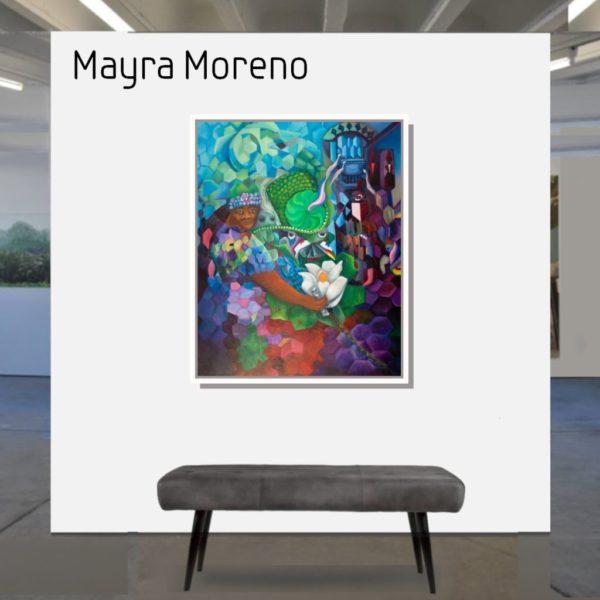 Maske_Moreno_Mayra_#Salvaelgrillo_100x80_mit_Rahmen