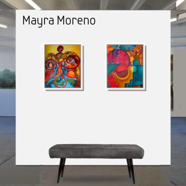 Maske_Moreno_Mayra_The_fool_60x50_mit_Rahmen