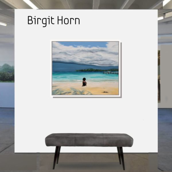 Maske_SHE_horn_birgit_80x100_2020_mit_Rahmen
