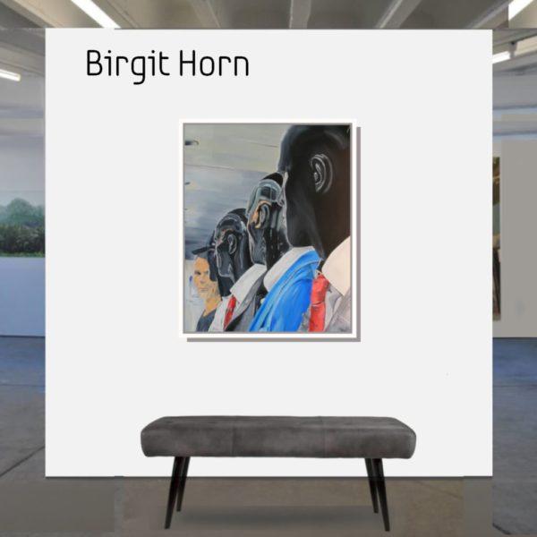 Maske_YOU_horn_birgit_100x80_2020_mit_Rahmen