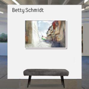 Betty Schmidt   Der grüne Lastwagen  80 x 120 cm