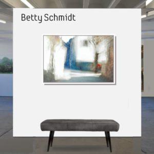 Betty Schmidt   Der rote Briefkasten  80 x 120 cm