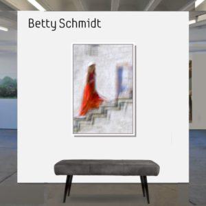 Betty Schmidt   Die Frau in Rot   120 x 80 cm