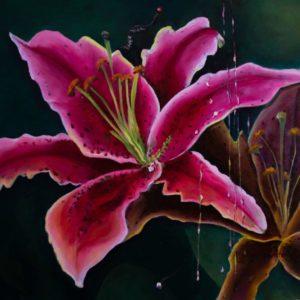 """La Flor <br><a href=""""https://arte-kunstmesse.de/mayra-moreno/"""">Mayra Moreno</a>"""