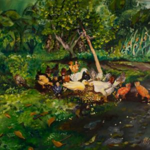 "Feeding Time <br><a href=""https://arte-kunstmesse.de/mayra-moreno/"">Mayra Moreno</a>"