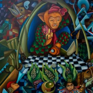 "The Puppet Master <br><a href=""https://arte-kunstmesse.de/mayra-moreno/"">Mayra Moreno</a>"