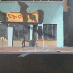 """Schattenseiten einer Stadt <br><a href=""""https://arte-kunstmesse.de/margot-kupferschmidt/"""">Margot Kupferschmidt</a>"""