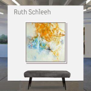 """Mit dem Pinsel lachen <br><a href=""""https://arte-kunstmesse.de/ruth-schleeh/"""">Ruth Schleeh</a>"""