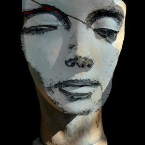 "Mädchen mit Maske <br><a href=""https://arte-kunstmesse.de/monika-bendner/"">Monika Bendner</a>"