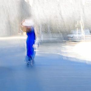 Betty Schmidt   Die Frau in Blau   120 x 80 cm